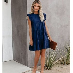 Vici Collection East Coast Pocketed Tiered Dress